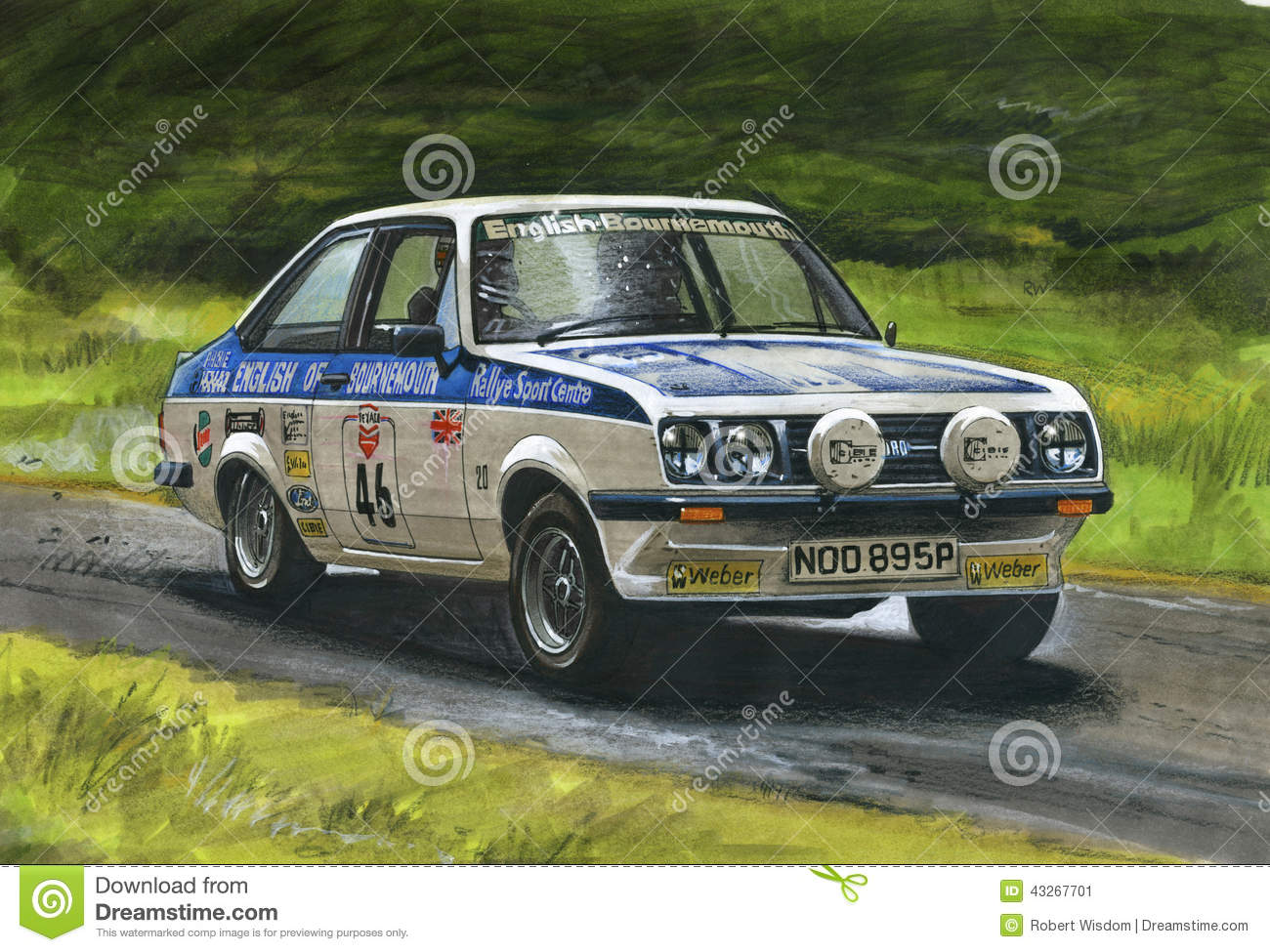 Ford Escort MkII RS2000 Rally Editorial Photo - Illustration of ...