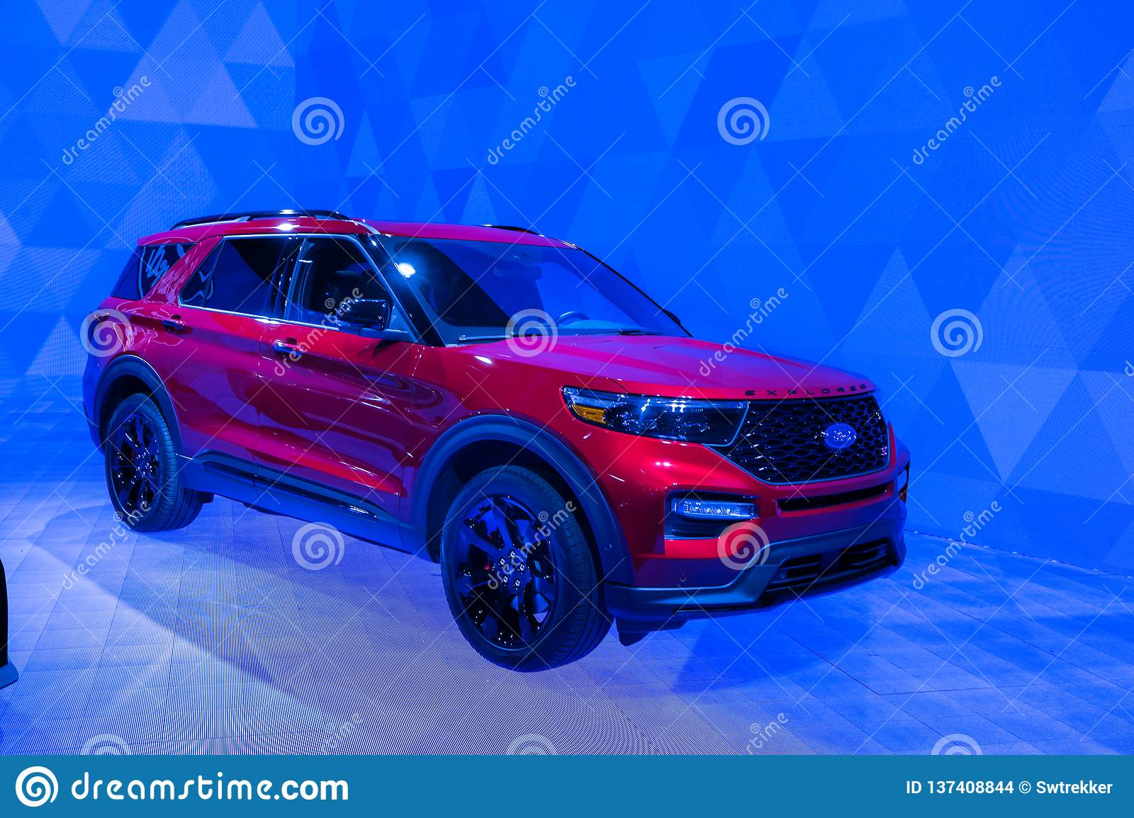 North American International Auto Show 2020.2020 Ford Explorer Editorial Stock Image Image Of American