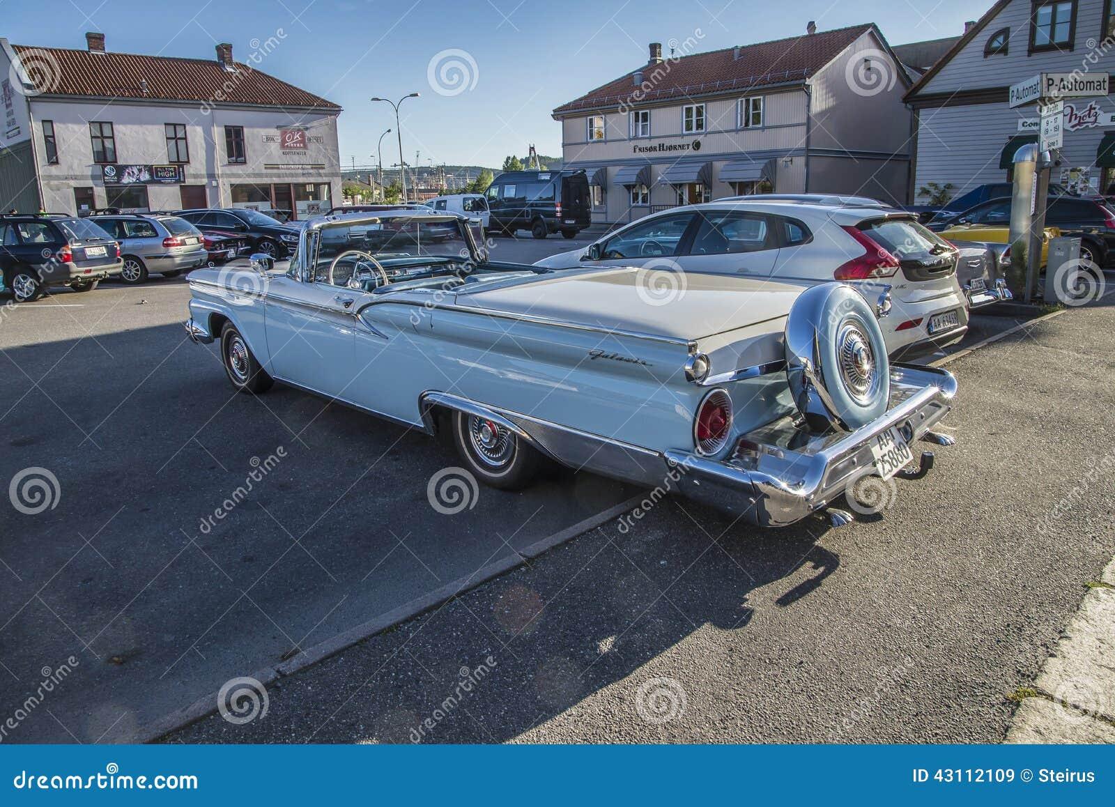 1959 Ford Fairlane 500 Galaxie Convertible Editorial Stock