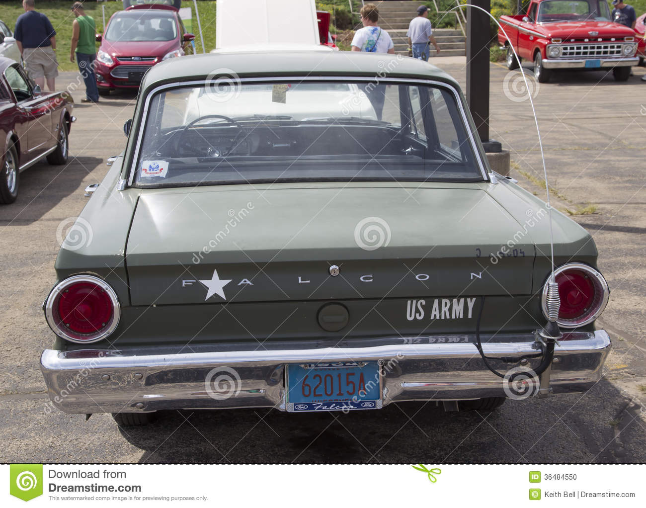 1964 Ford Falcon Us Army Car Rear View Editorial Image