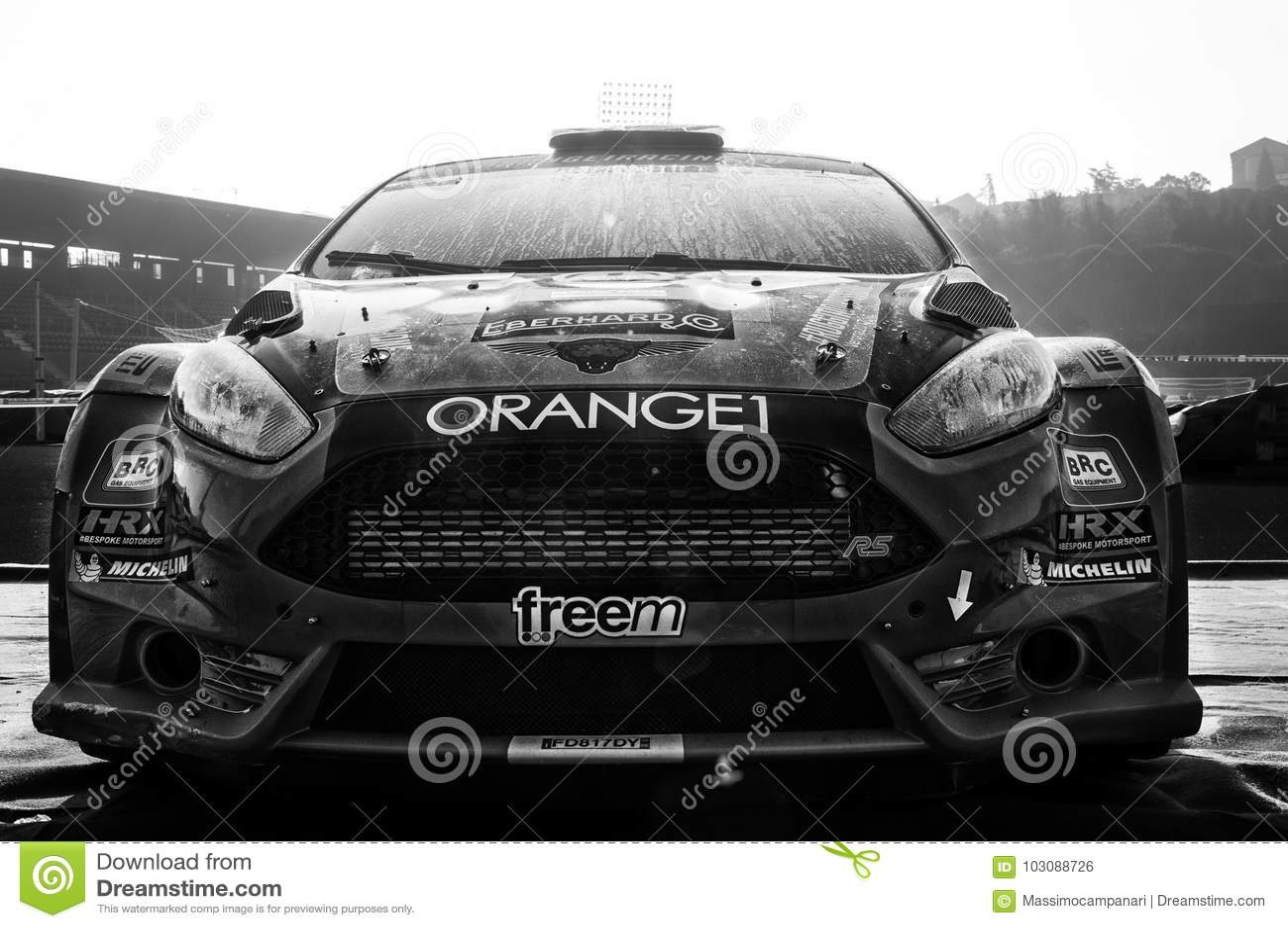 FORD FIESTA R5 Orange Old Racing Car Rally In Old Racing Car Rally ...