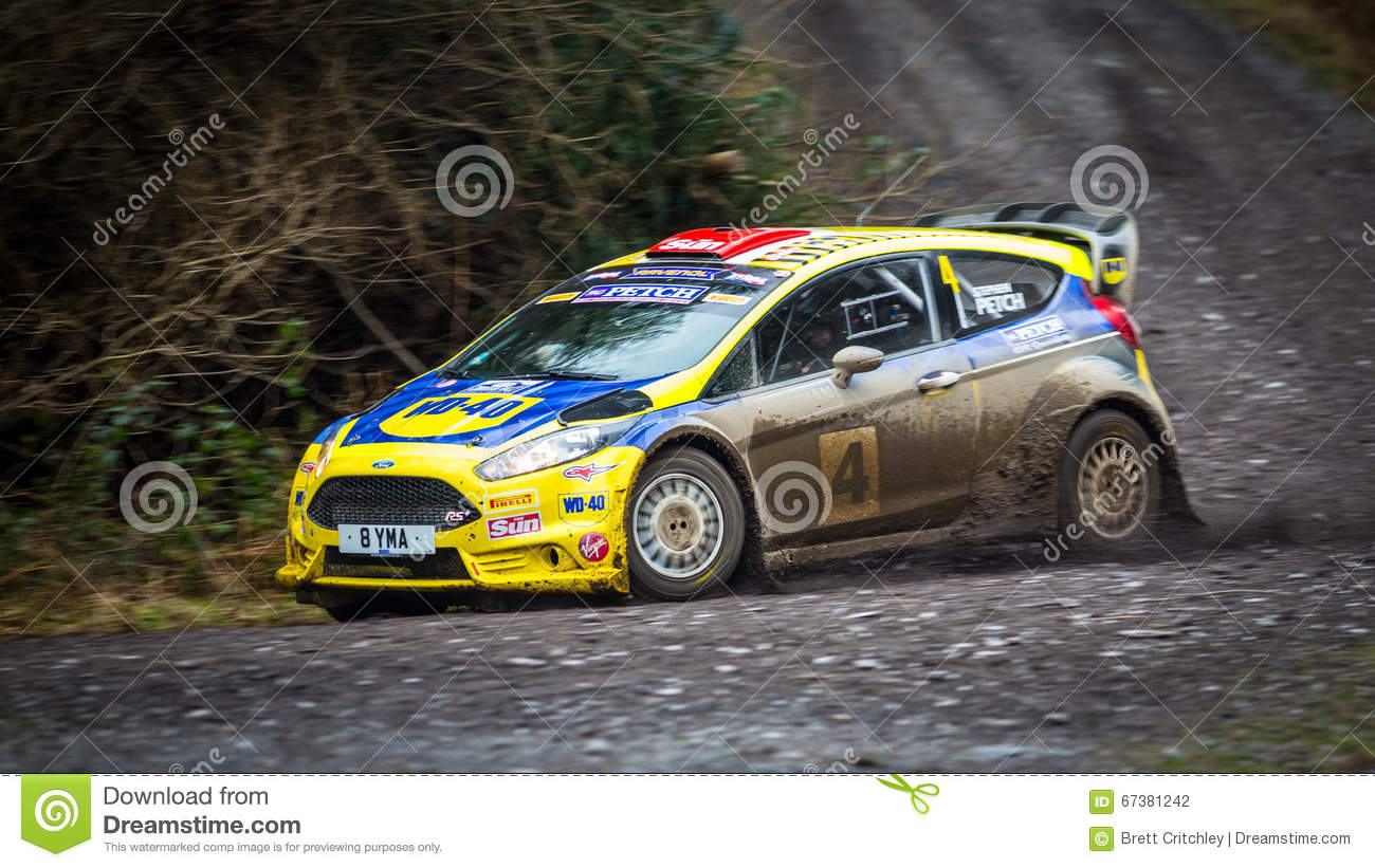 Ford Fiesta R5+ rally car editorial photography. Image of racing ...