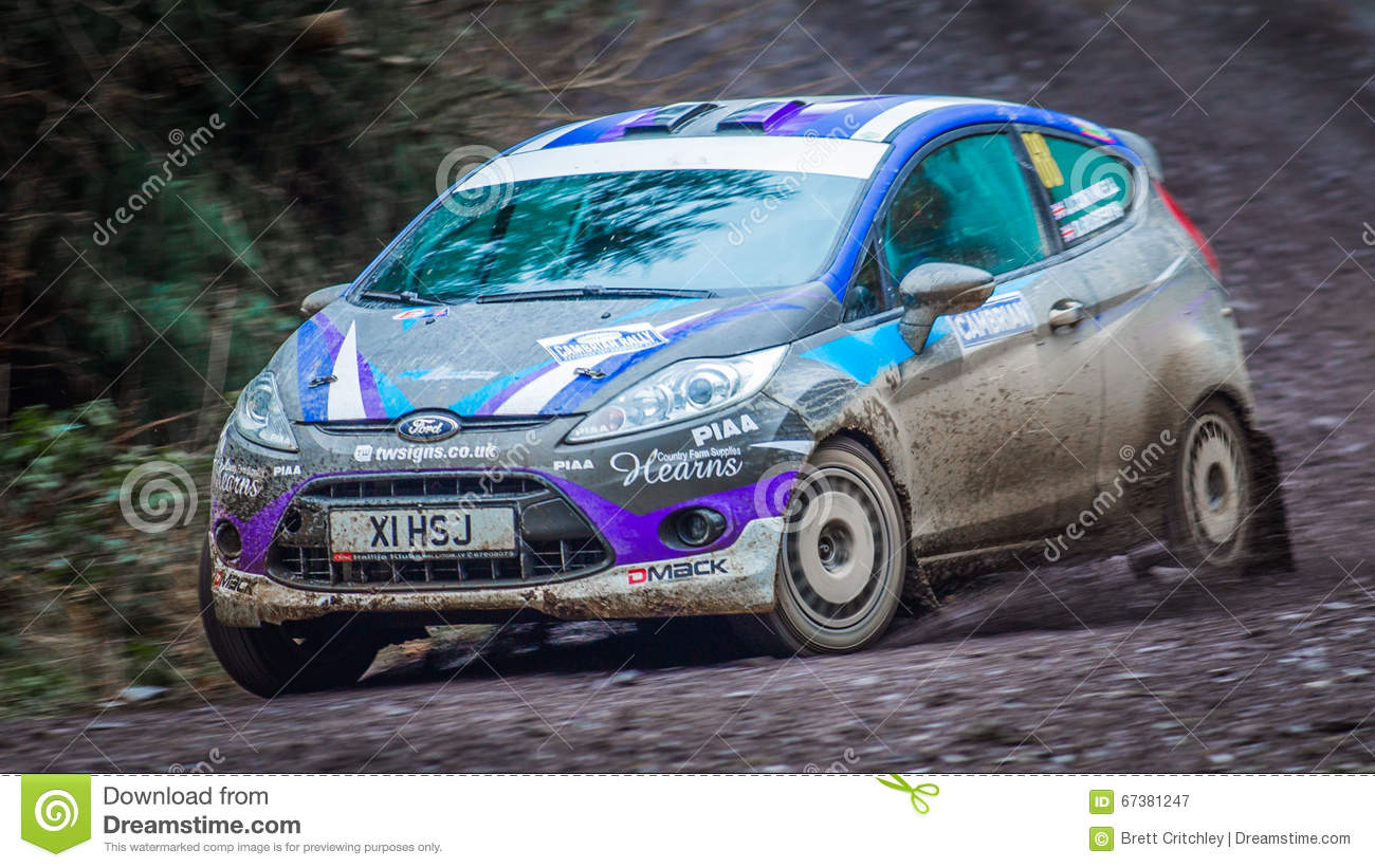 Ford Fiesta R2 rally car editorial photography. Image of part - 67381247