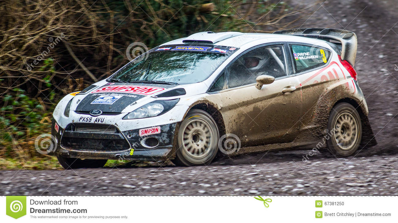 Ford Fiesta rally car editorial image. Image of february - 67381250