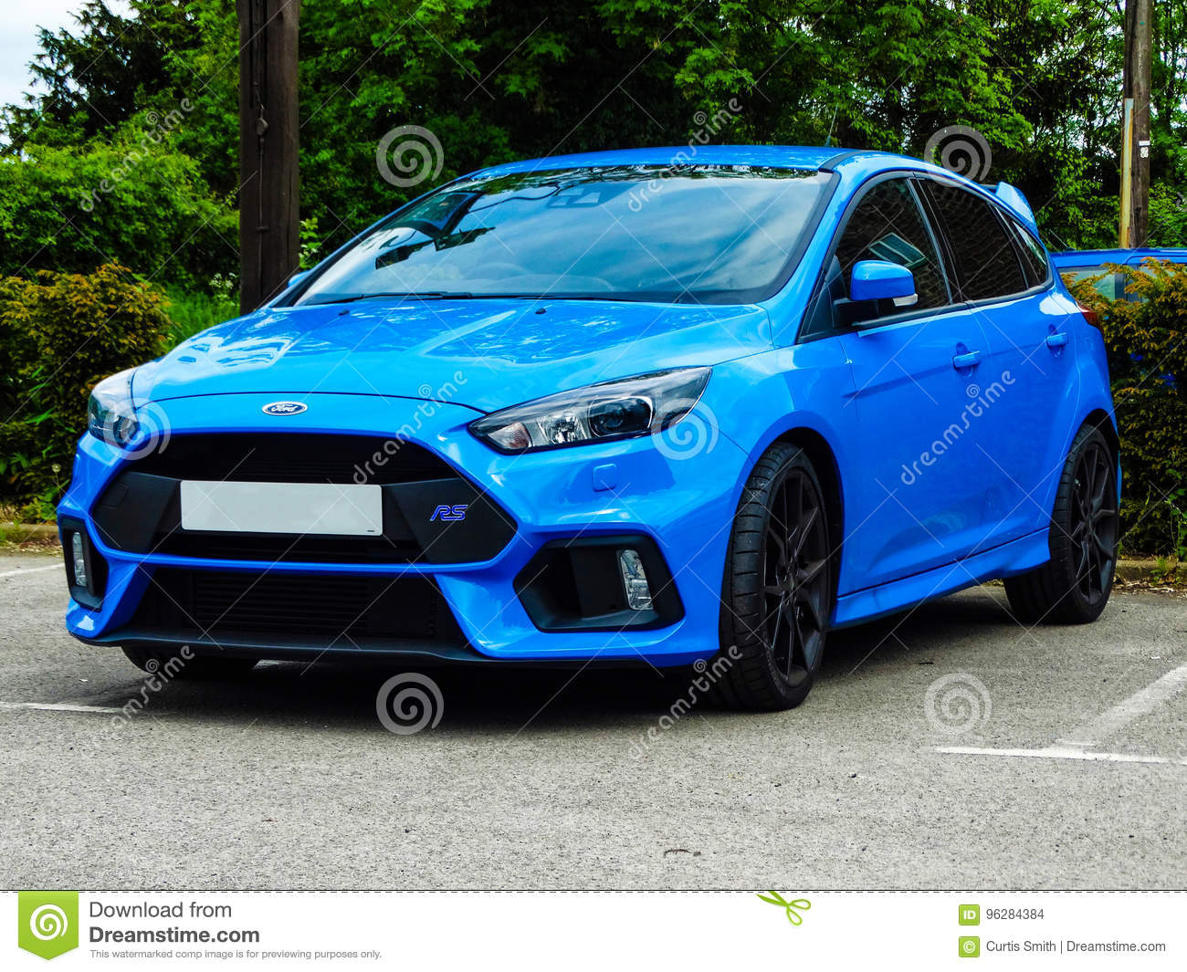 2016 Ford Focus Rs Nitrous Blue Editorial Stock Image Image Of Trademark Focusrs 96284384