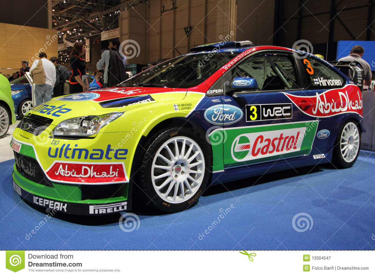 Ford Focus Wrc Rally Car 2010 Geneva Motor Show Editorial Photography Image 13304547
