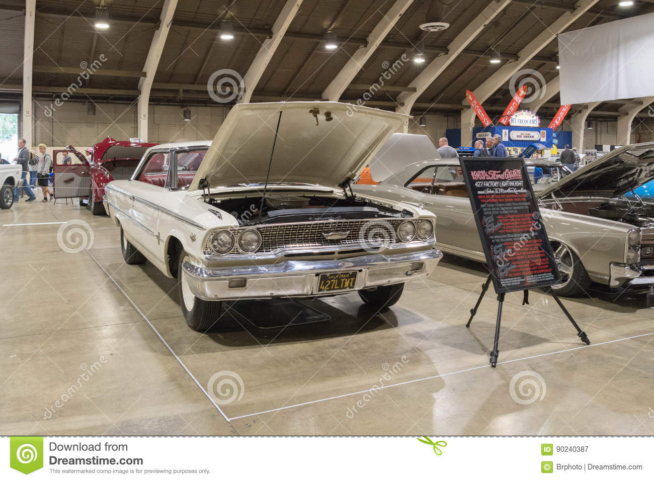Ford Galaxie 427 On Display Editorial Photography - Image of