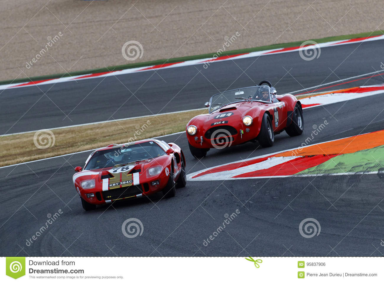 Ford Gt And Ac Cobra At The Chicane