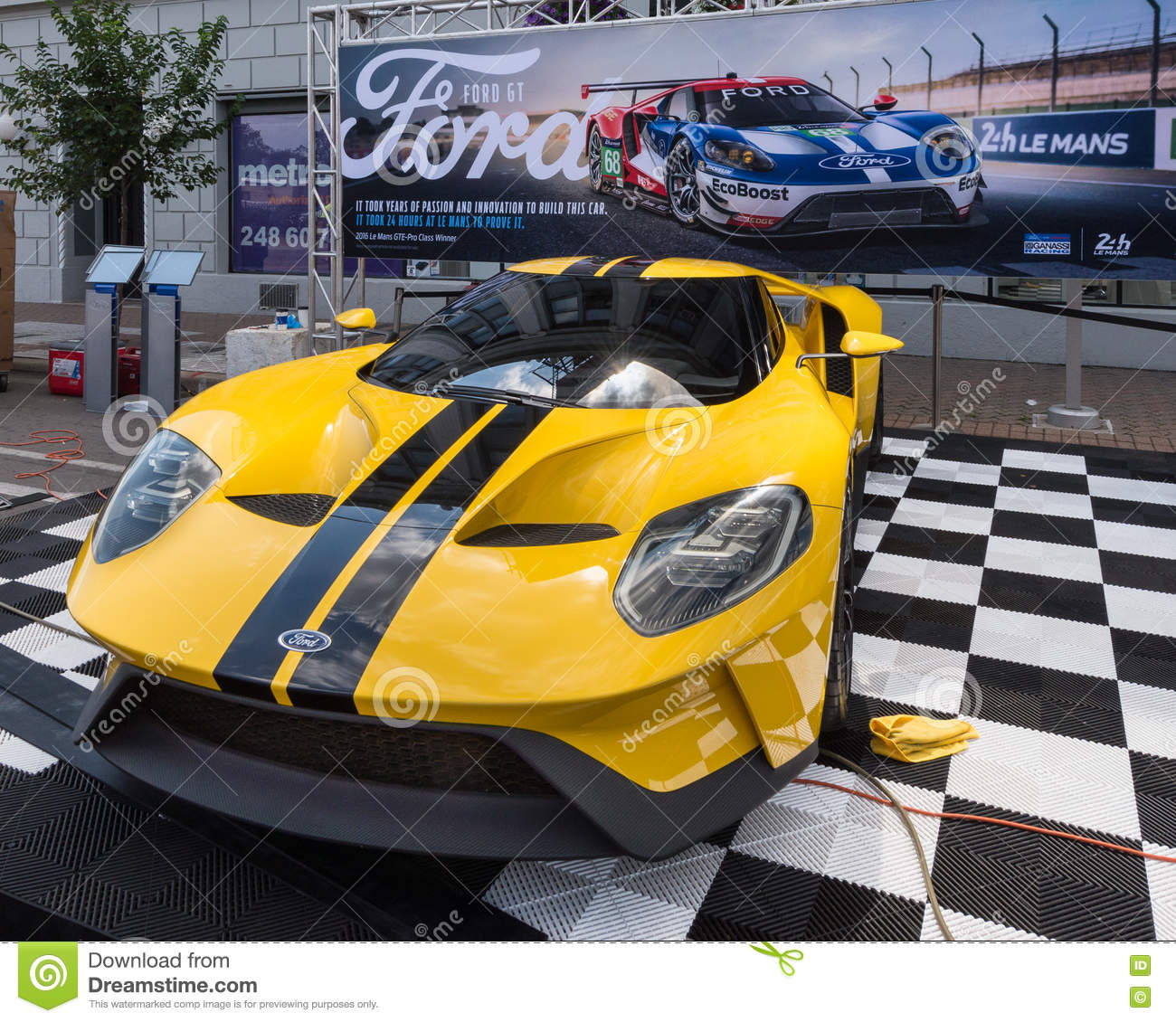 Download  Ford Gt Car At Mustang Alley Woodward Dream Cruise Editorial