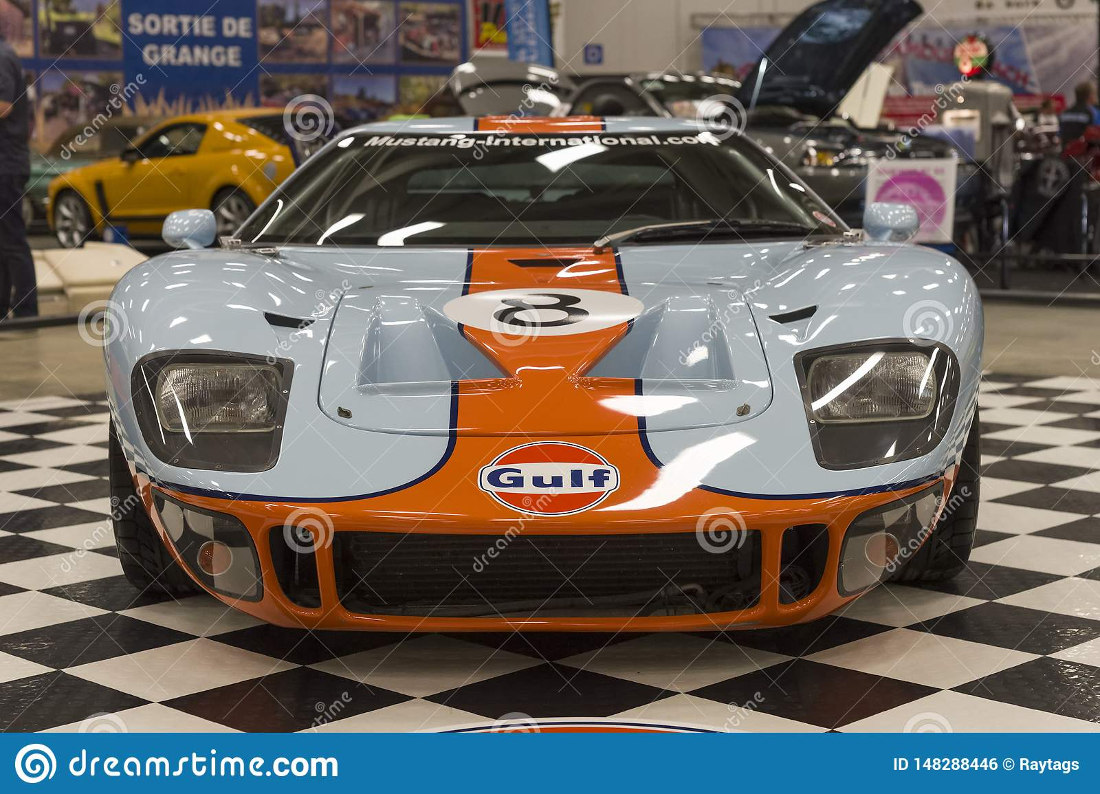 Ford Gt40 Front View Editorial Photo Image Of Ford 148288446