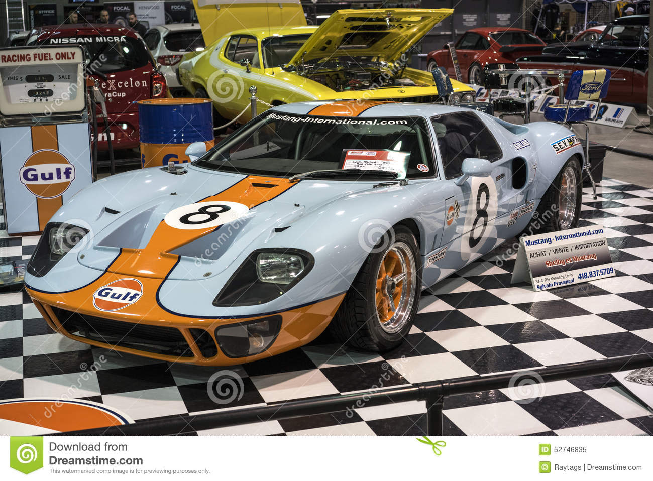 Picture Of  Ford Gt  Gulf At The International Show Car Association  Isca Show Car  At Quebec Canada