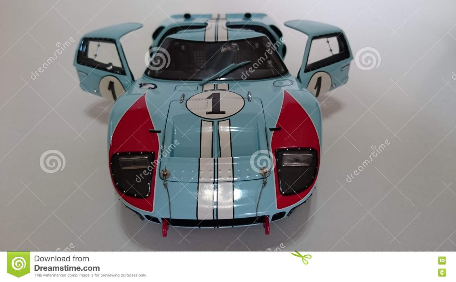 Cast Replica Of A Famous Racer Of Lemans