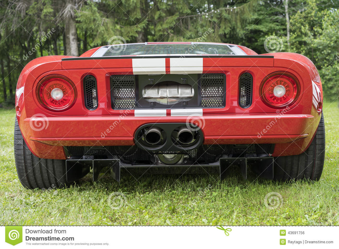 Download Ford Gt Rear End Stock Photo Image Of Motor Classic