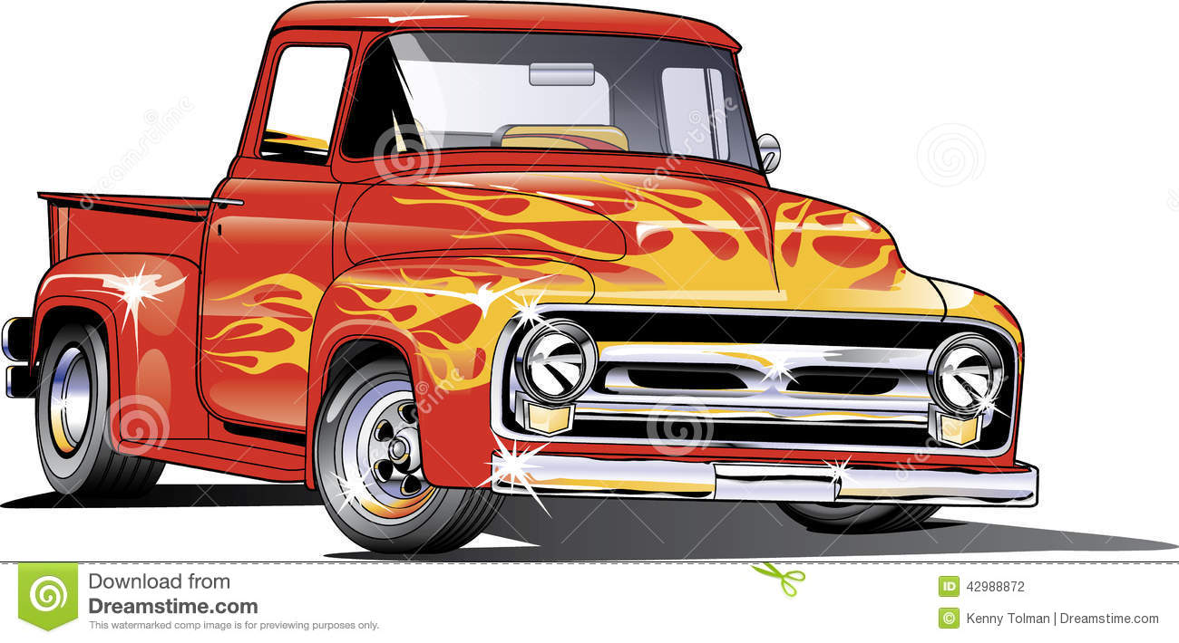 1954 Ford Hotrod Truck Stock Vector Illustration Of 42988872 F100