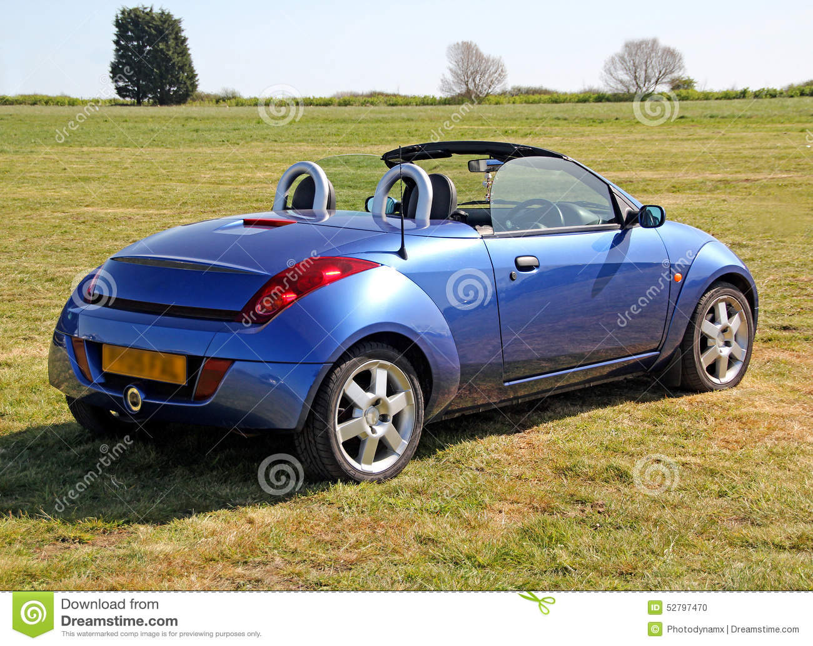 ford ka convertible car stock photo image of transport 52797470. Black Bedroom Furniture Sets. Home Design Ideas