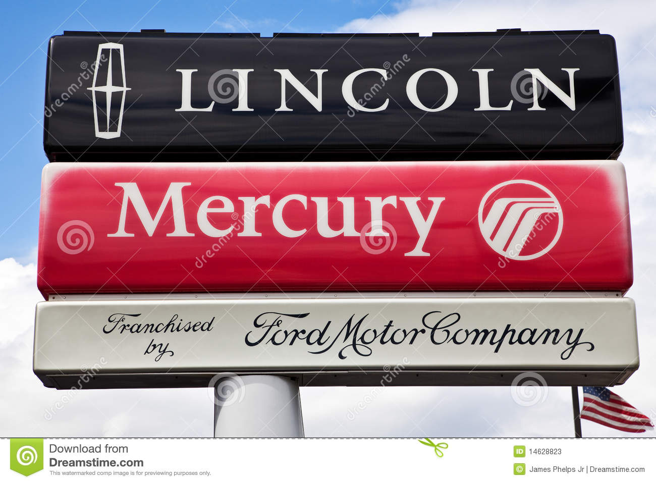Ford lincoln mercury dealership sign editorial stock photo for Ford motor company credit card