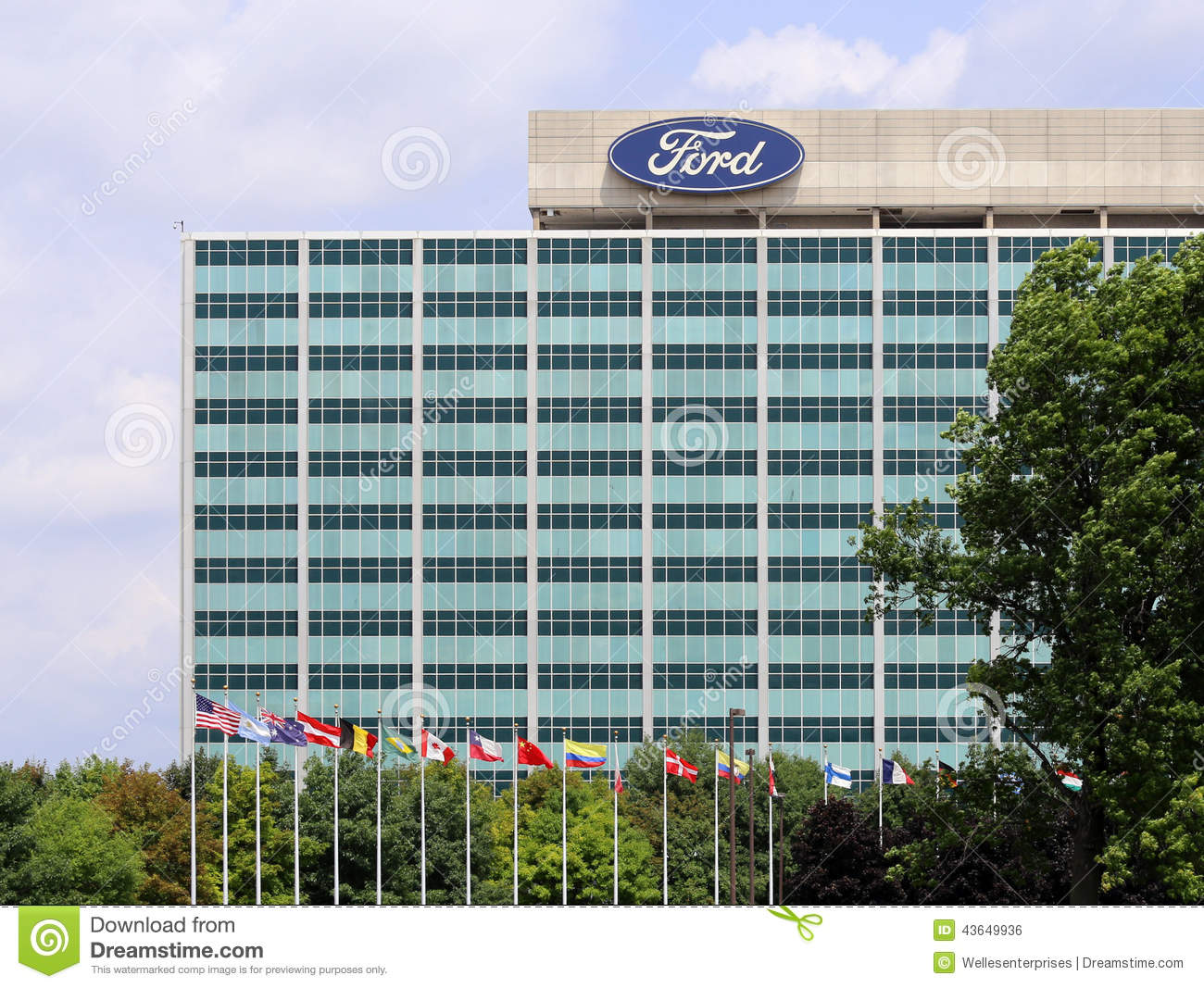 Ford motor company world headquarters editorial photo for Ford motor co dearborn mi