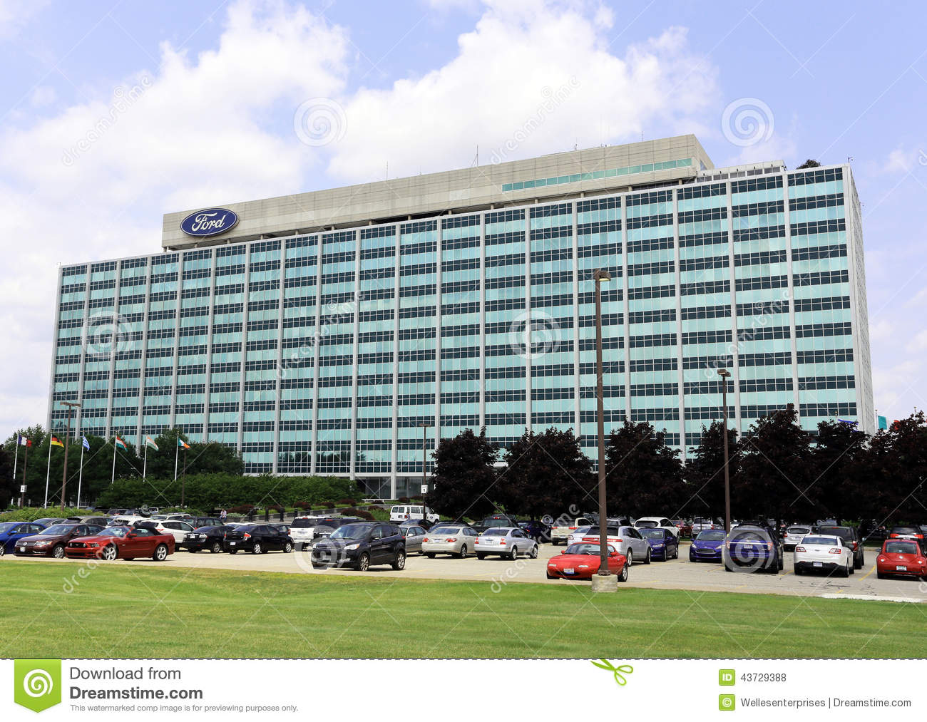 ford motor company world headquarters editorial stock