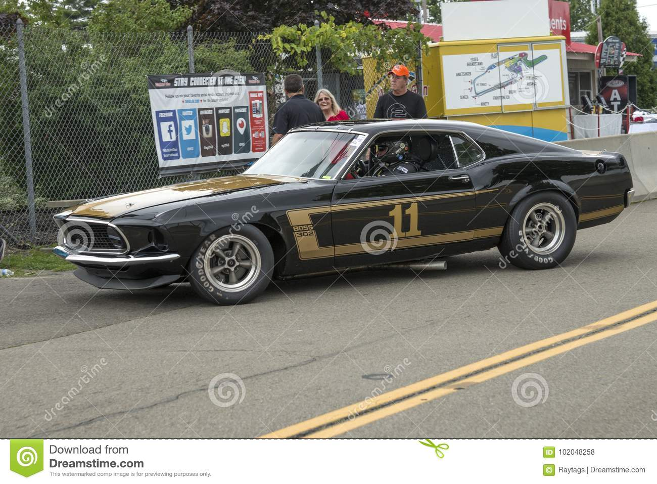 1969 Ford Mustang Boss 302 Race Car Editorial Stock Photo Image Of