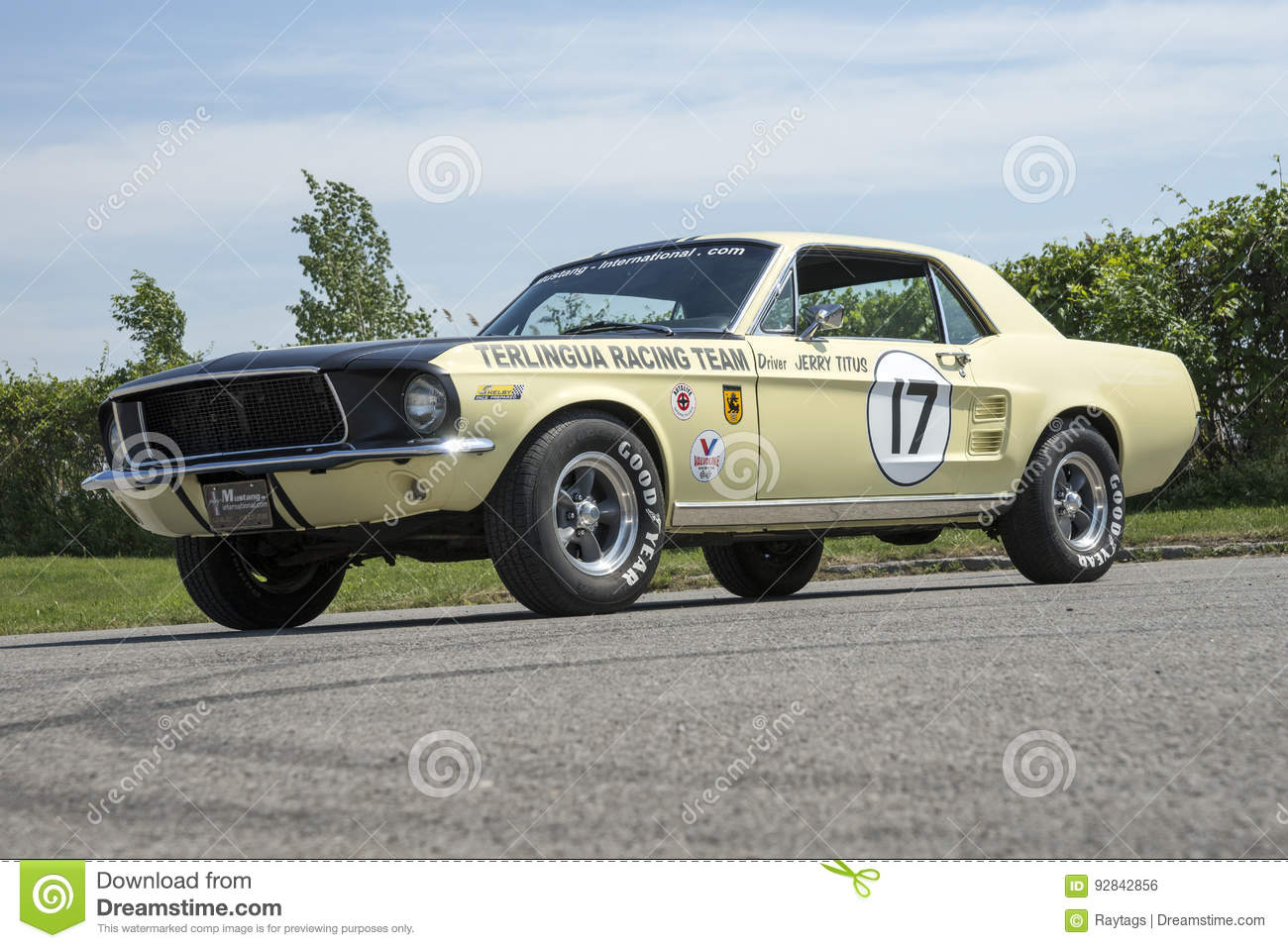 1967 Ford Mustang Coupe Race Car Editorial Photo - Image of