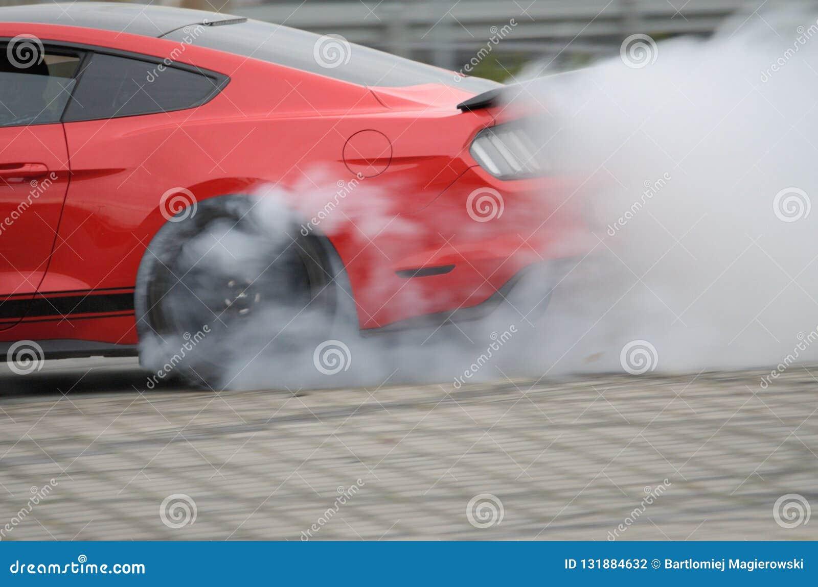 Ford Mustang i drivaskola i Polen