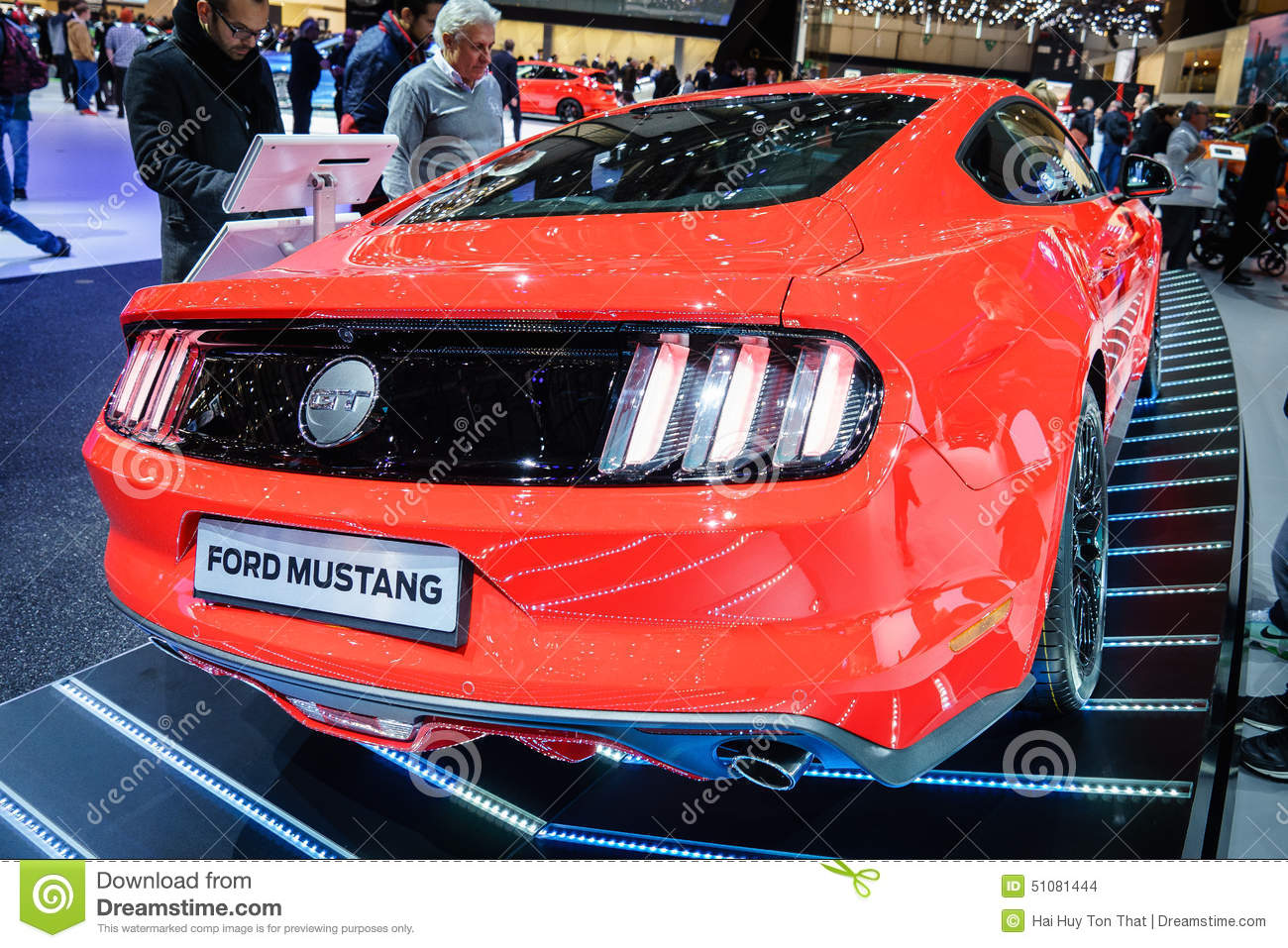 Ford Mustang Motor Show Geneve 2015 Editorial Stock