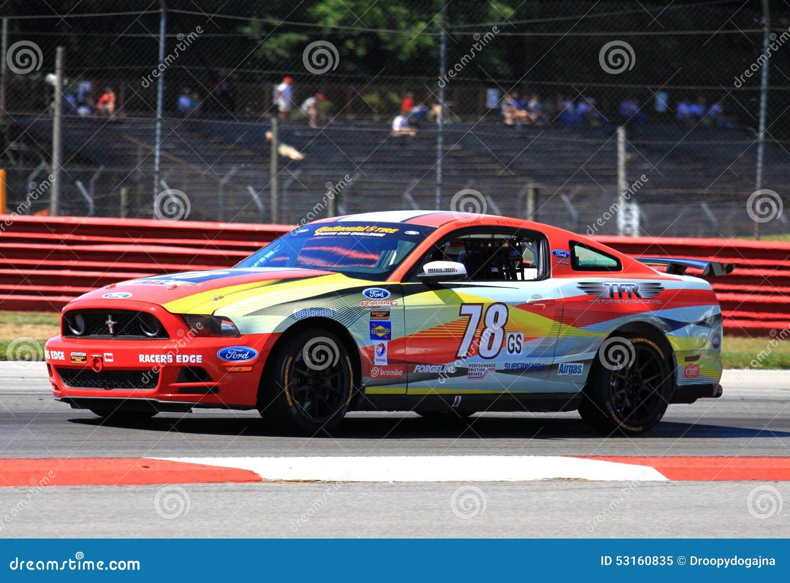 Ford mustang racing editorial image image 53160835 Randall motors
