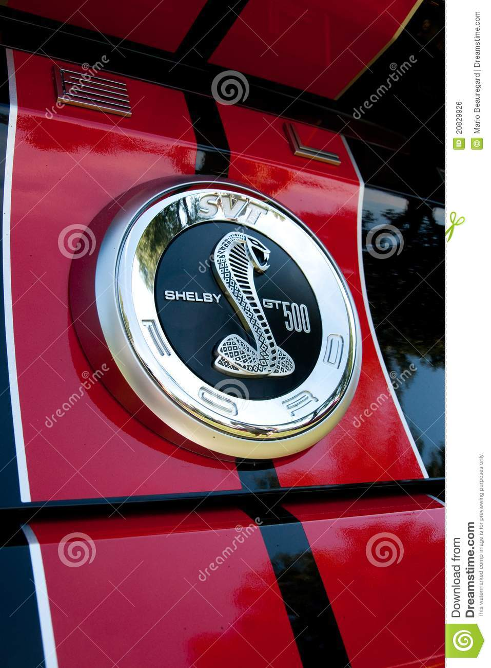 ford mustang shelby cobra emblem editorial photo
