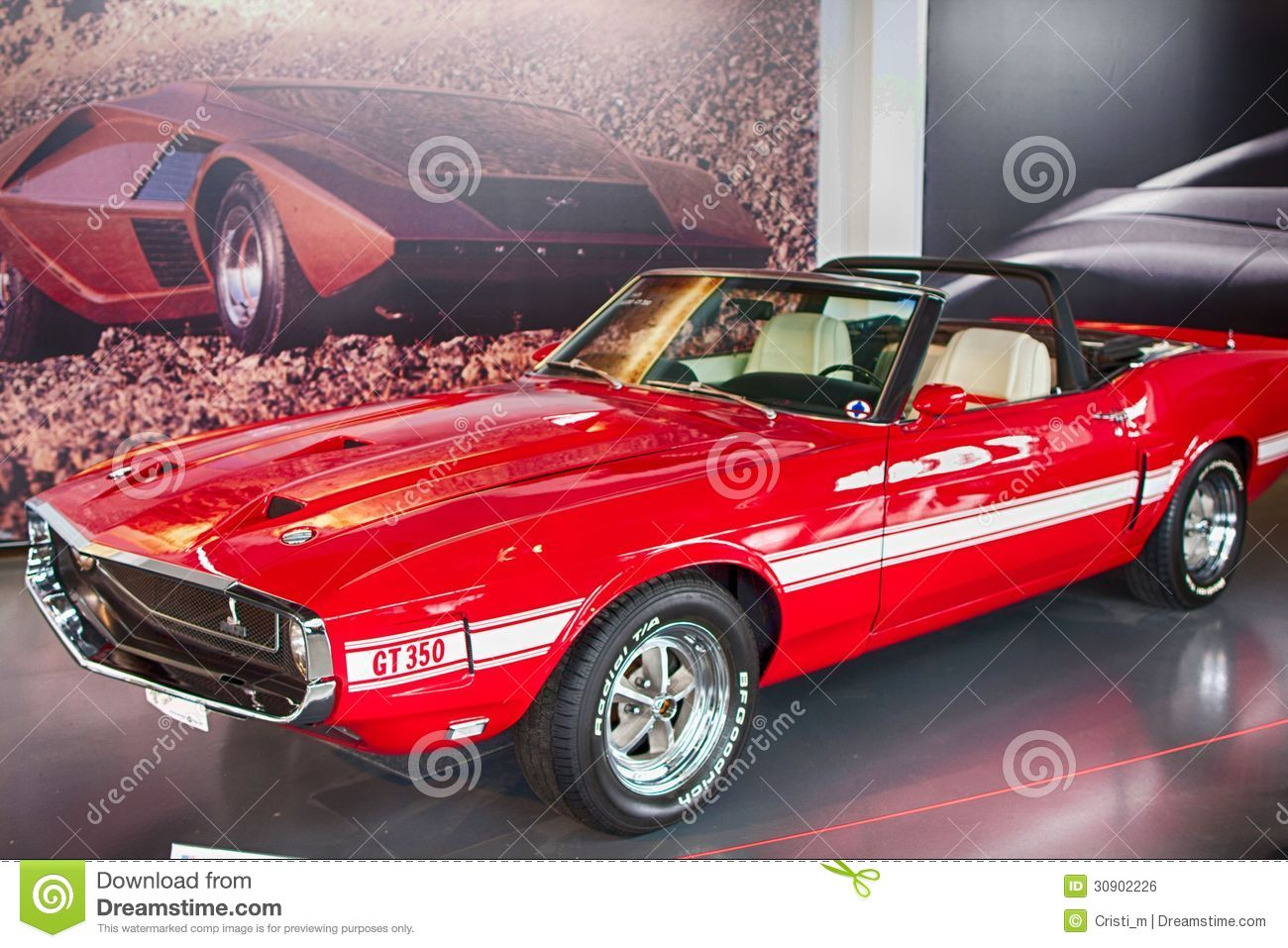 Ford Mustang Shelby Gt350 1969 Editorial Photo Image Of Autoworld Bruxelles Belgium May 8 On Display At Belgian Racing Legends 2013 In