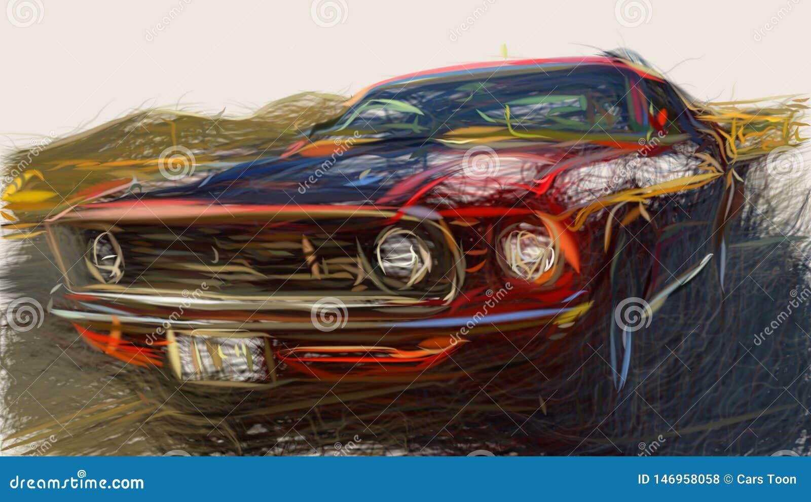 1969 Ford Mustang 428 Super Cobra Jet ID 664 Stock