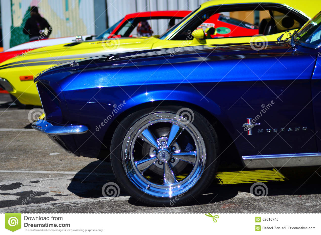 Ford Mustangs In A Public US Muscle Cars V8 Car Show Editorial Photo ...