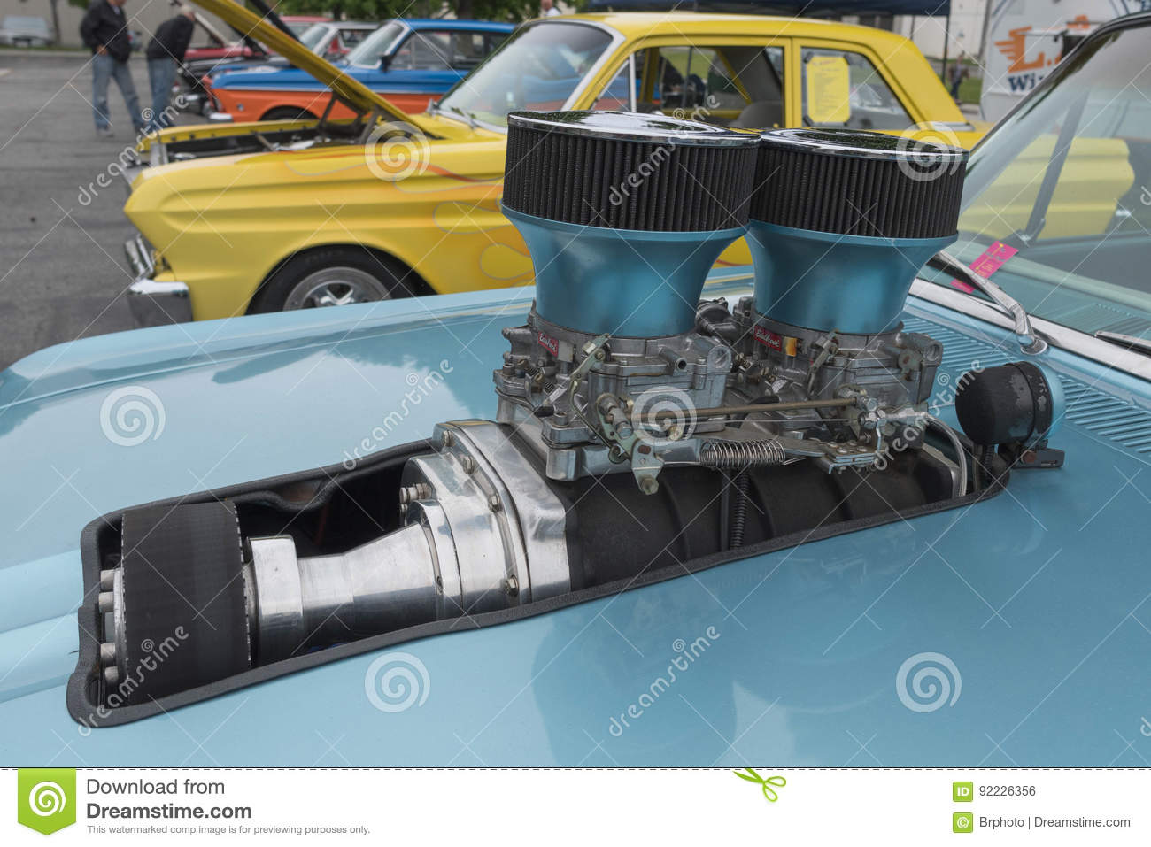Ford Ranchero Engine On Display Editorial Photo Image Of Show