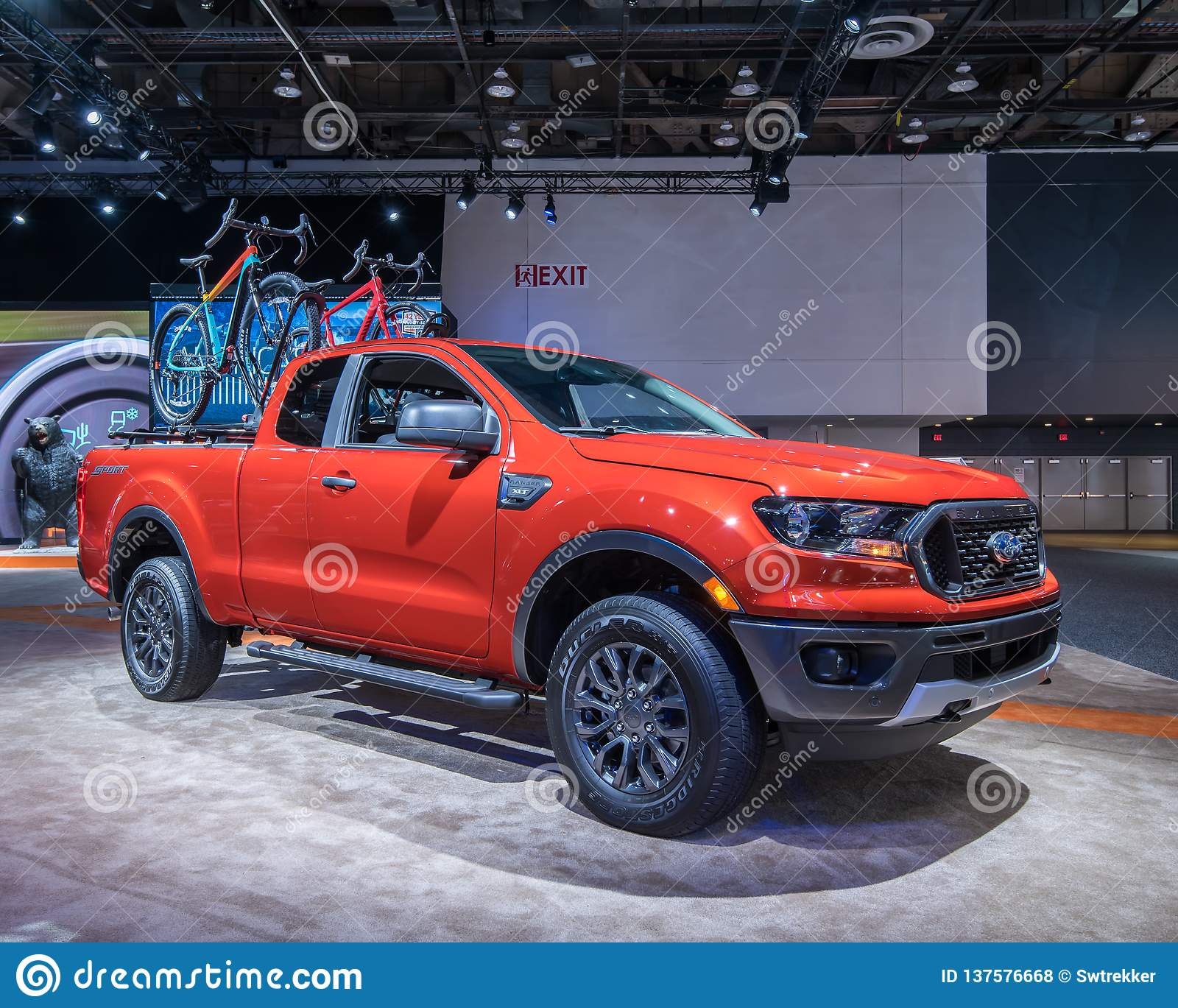 Ford Sport: 2019 Ford Ranger XLT Sport Editorial Stock Photo. Image Of