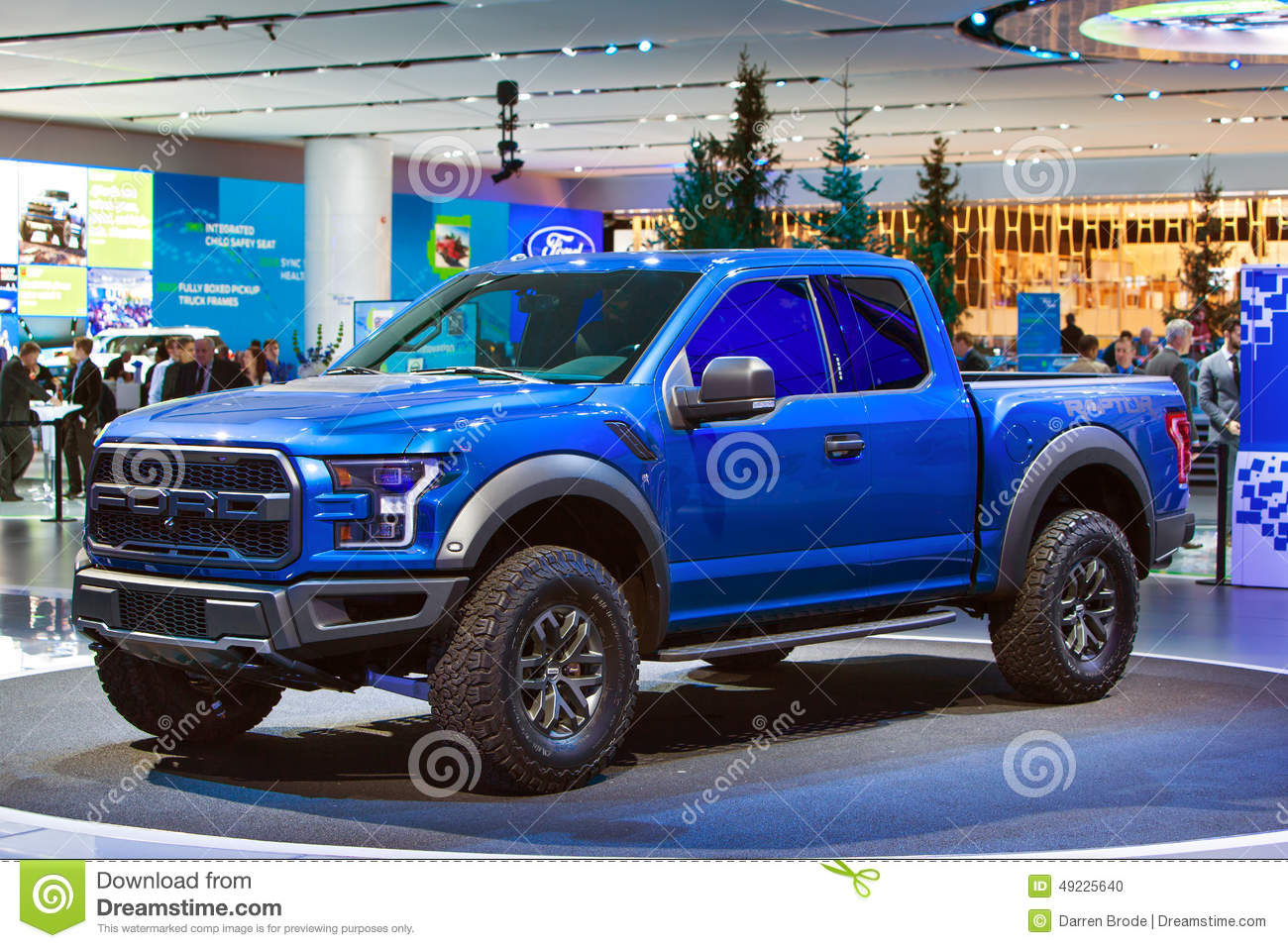 ford raptor pickup truck detroit auto show 2015 redaktionell foto bild 49225640. Black Bedroom Furniture Sets. Home Design Ideas