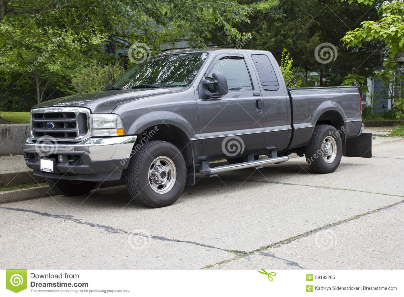 Ford Truck Stock Photos Royalty Free Images 1949 F 250 4x4 2005 Super Duty A Charcoal Gray F250 Powerstroke Diesel