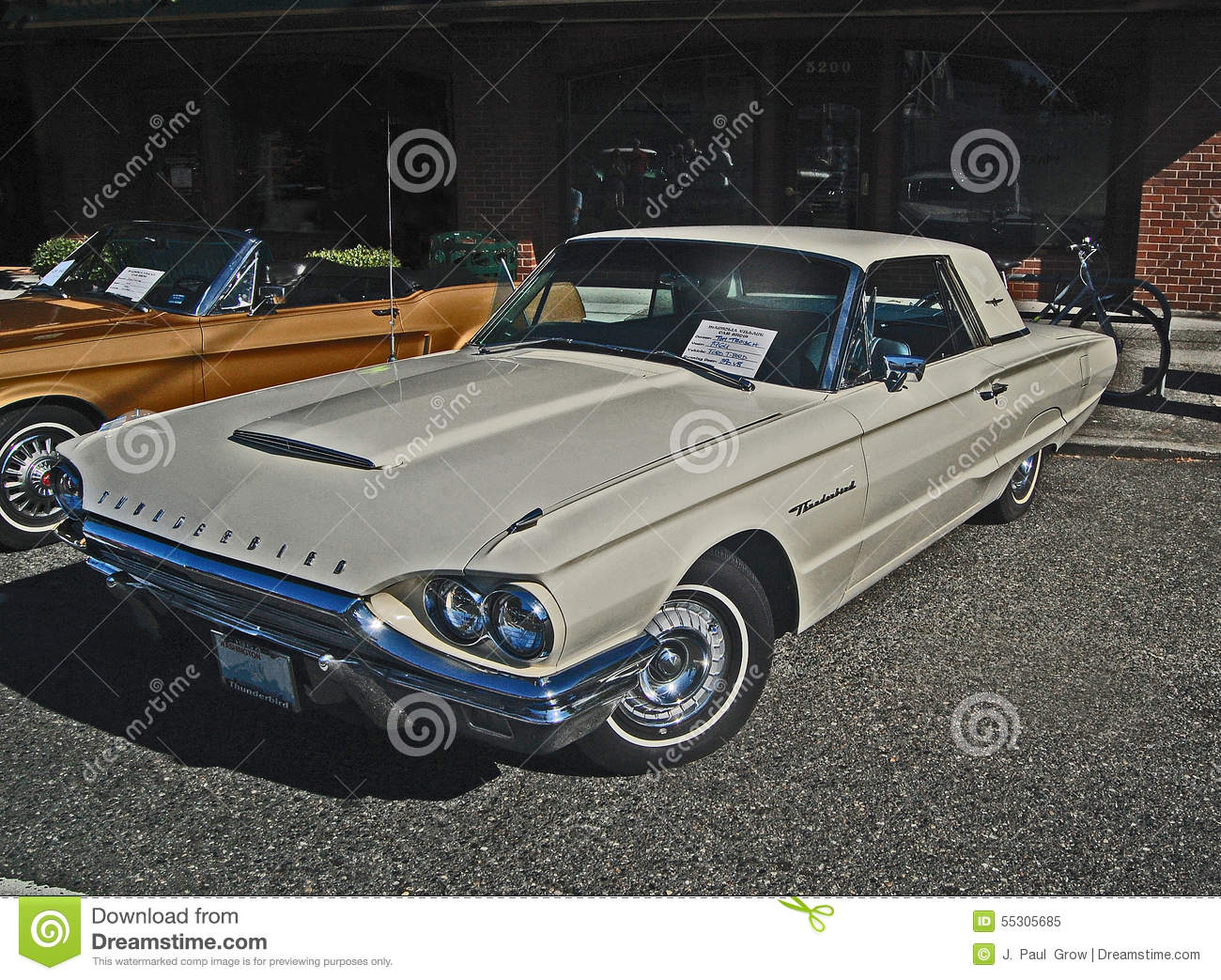 1964 ford thunderbird classic car editorial image image 55305685. Black Bedroom Furniture Sets. Home Design Ideas