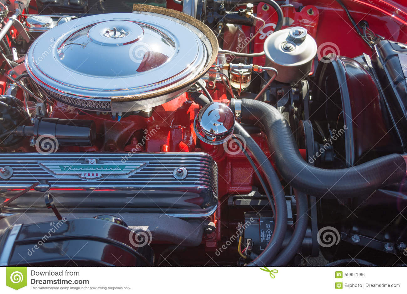 Ford Thunderbird Engine On Display Editorial Photo Image