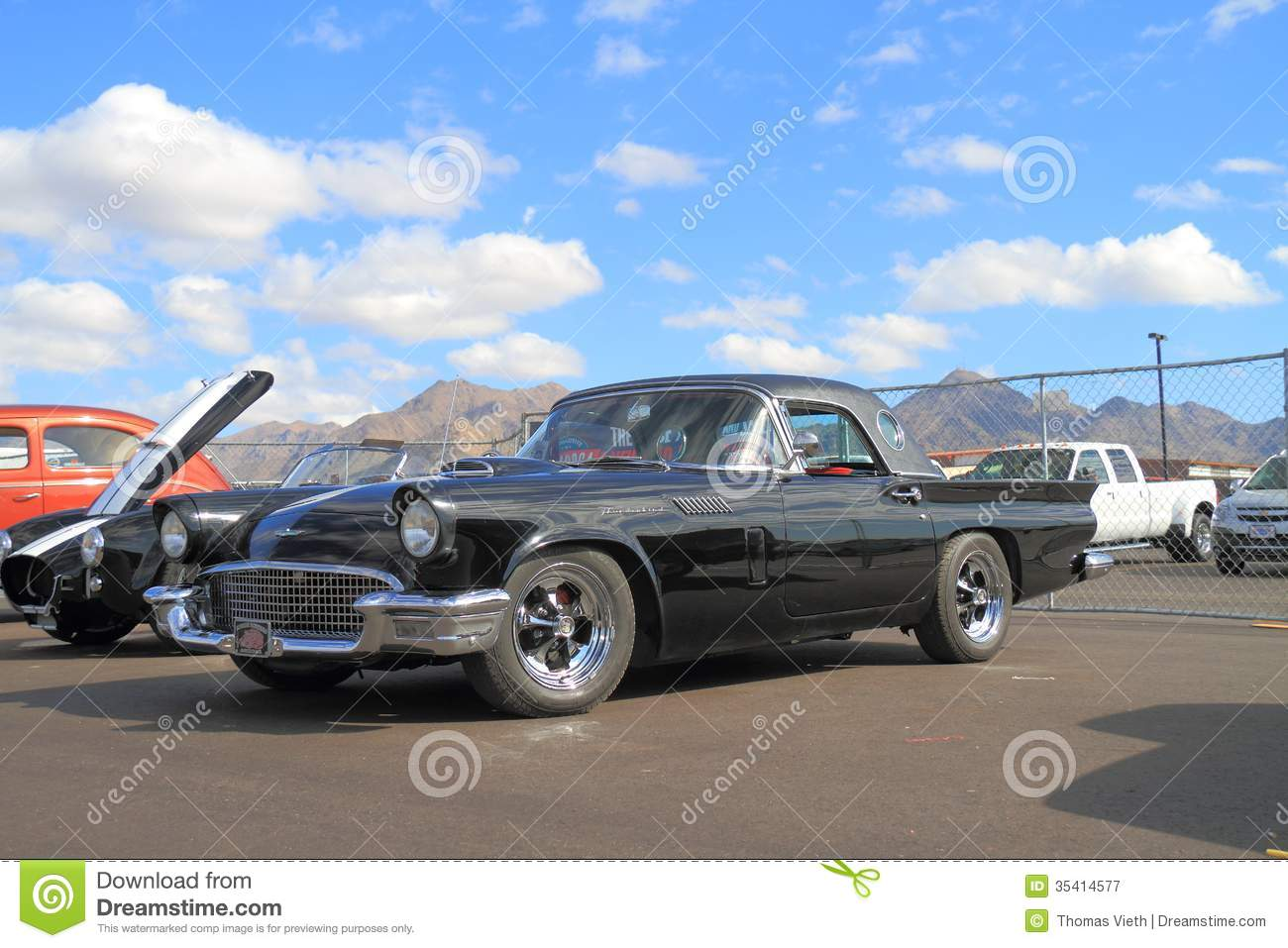 classic car 1957 ford thunderbird editorial photography image 35414577. Black Bedroom Furniture Sets. Home Design Ideas