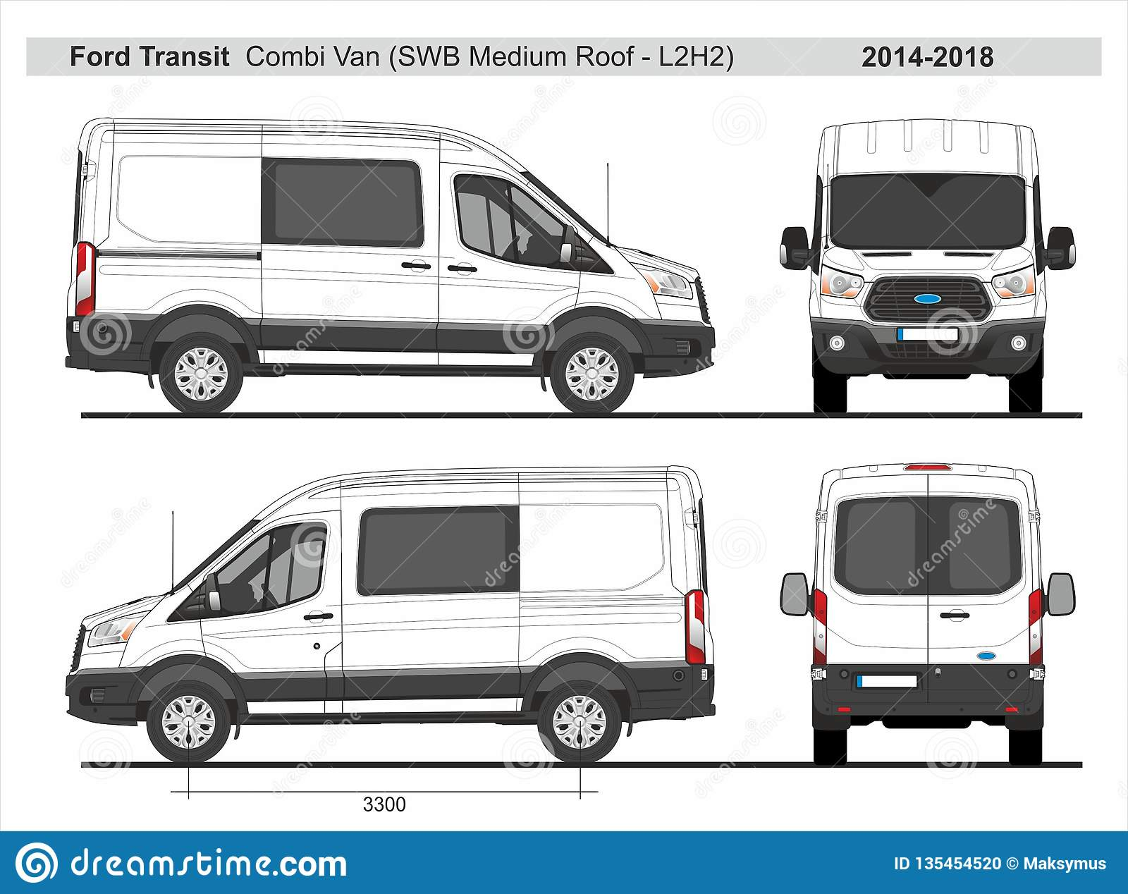 Ford Transit Combi Van Swb Medium Roof L2h2 2014 2018 Editorial Image Illustration Of Transit Wraps 135454520