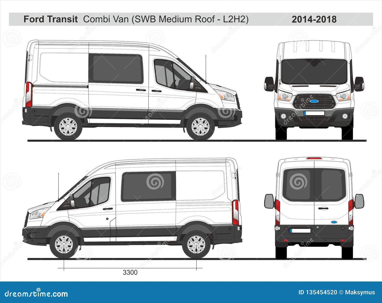 Ford Transit Combi Van Swb Medium Roof L2h2 2014 2018 Editorial Image Illustration Of Transit Wraps 135454520