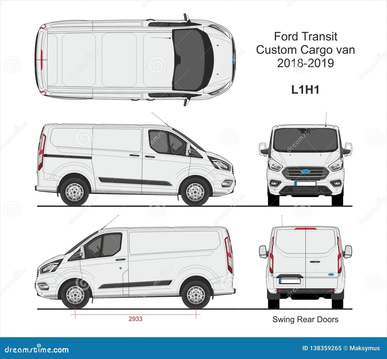 10 Ford Transit 15str Minibus: Ford Transit Custom Cargo Van L1H1 2018-2019 Editorial