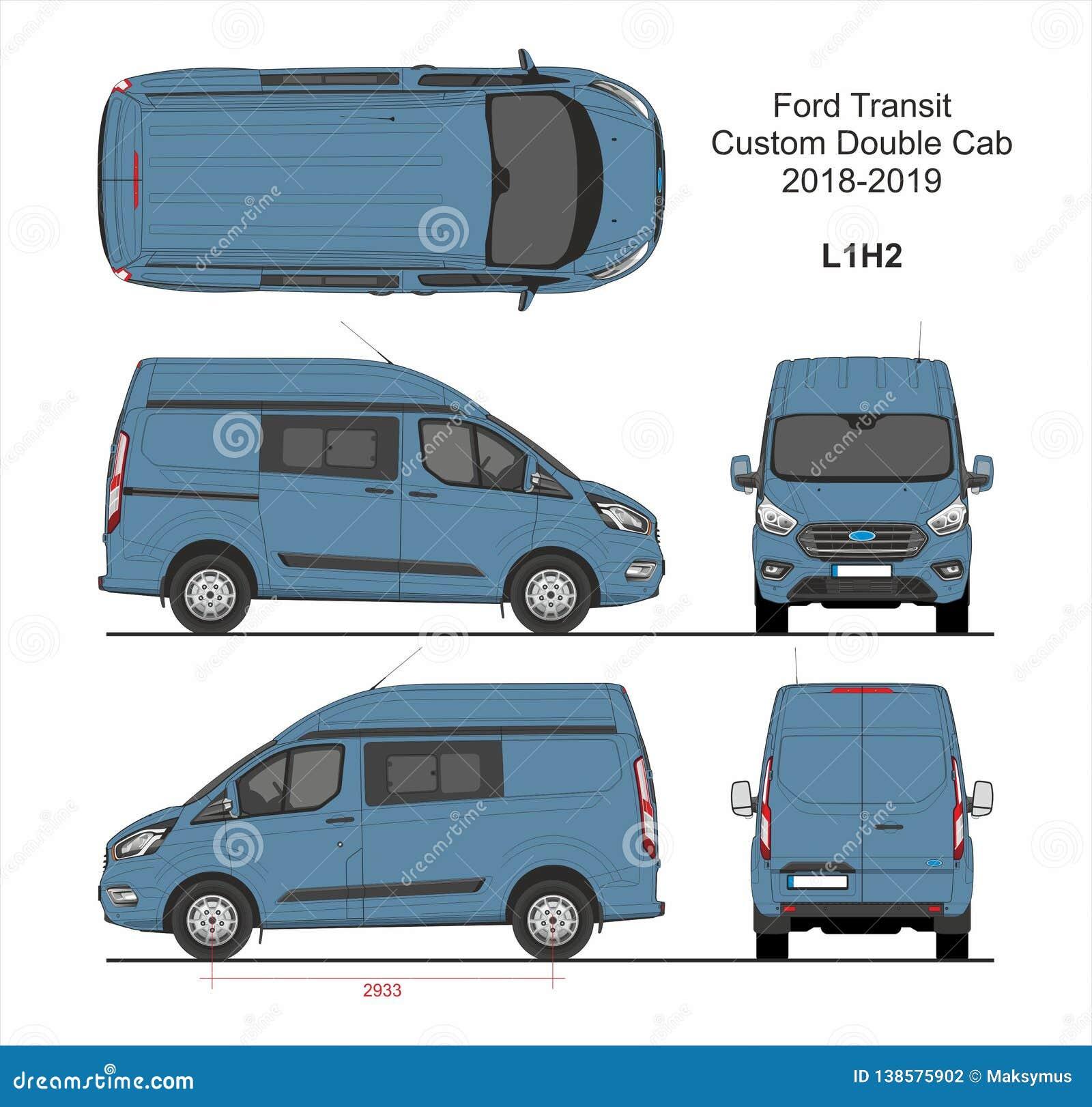 Ford Transit Custom Delivery Van L1h2 2018 2019 Redaktionelles Stockfotografie Illustration Von Anlieferung Furt 138575902