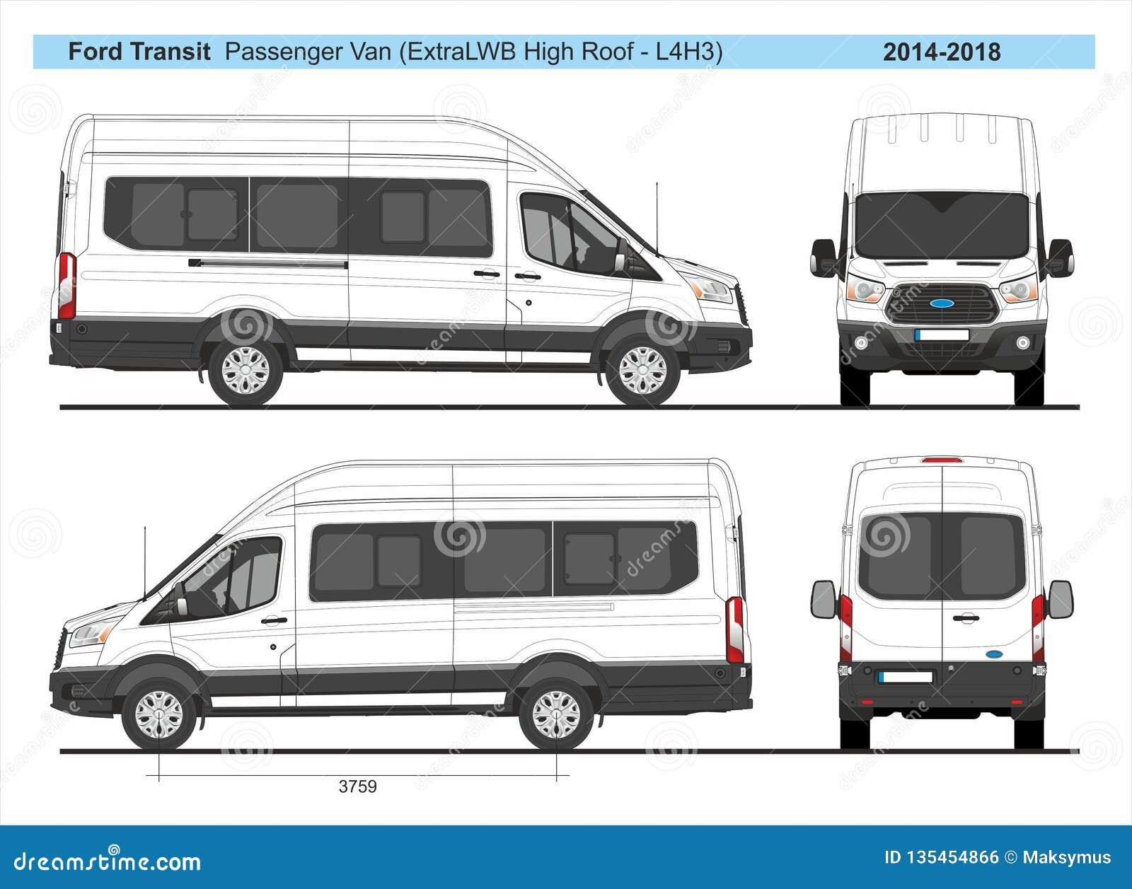Ford Transit Passenger Van >> Passenger Van Ford Stock Illustrations 45 Passenger Van