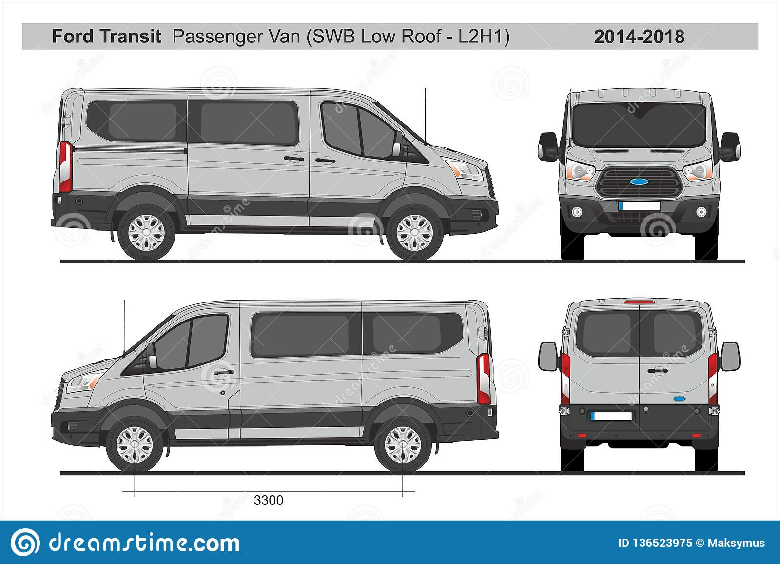 Ford Transit Passenger Van >> Ford Transit Passenger Van Swb Low Roof L2h1 2014 2018