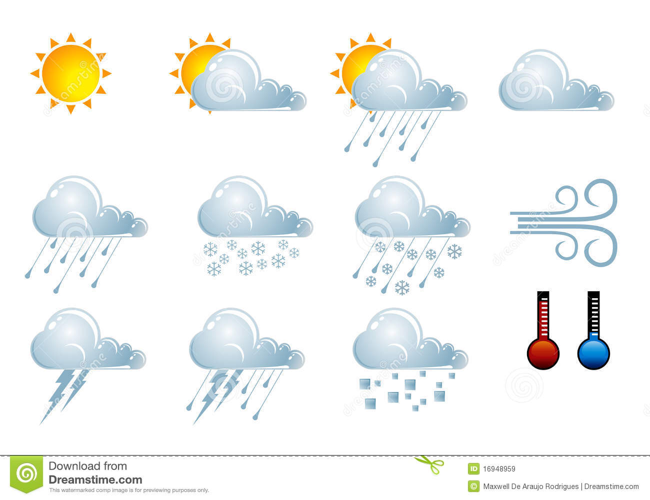 Forecast Weather Icons Royalty Free Stock Images Image
