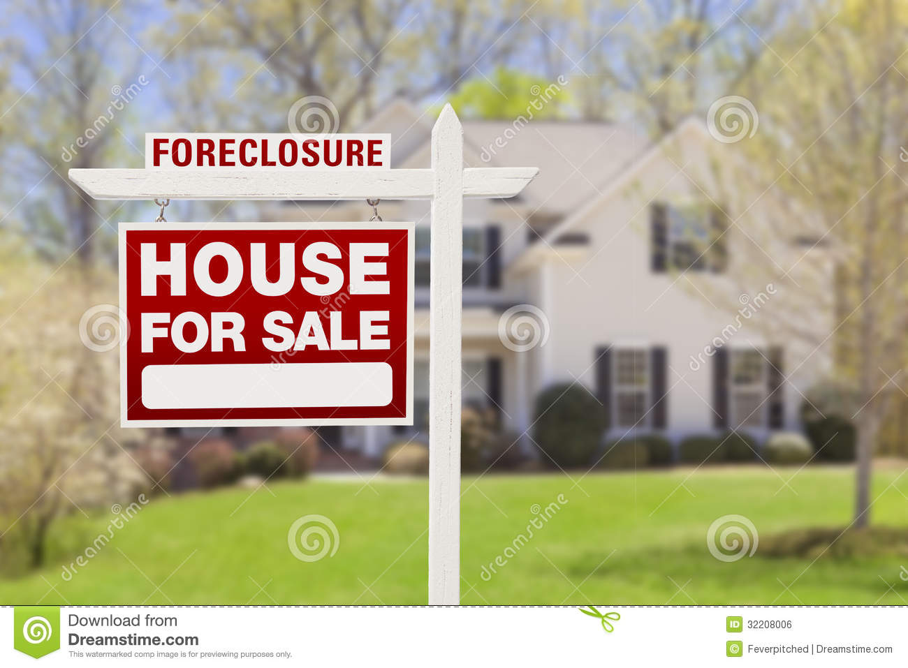 Foreclosure home for sale sign in front of house stock for House pictures for sale