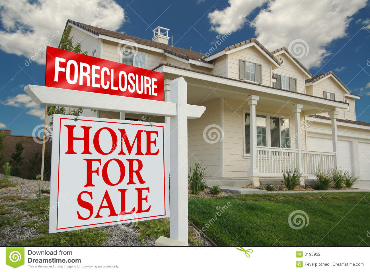 Foreclosure Sign and House