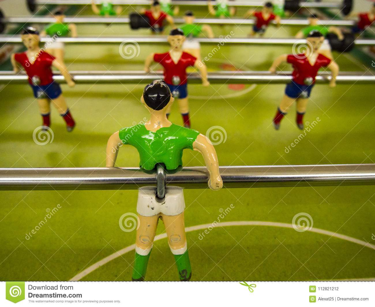 Players of the foosball