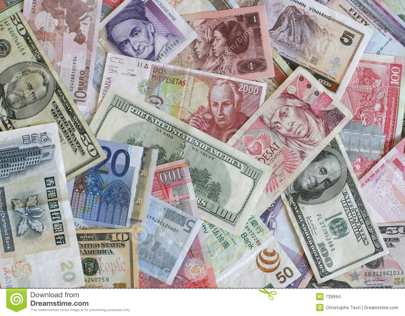 Foreign Currency Stock Images Image 739994