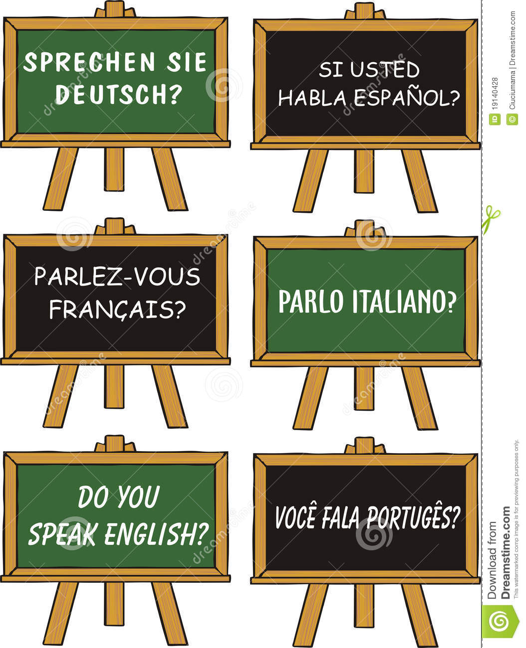 English In Italian: Foreign Language Education Royalty Free Stock Photos